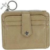 ID Wallet with Cross Charm, Beige