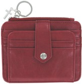 ID Wallet with Cross Charm, Red
