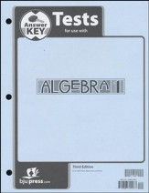BJU Algebra 1 Grade 9 Test Pack Answer Key, Third Edition