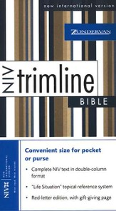 NIV Trimline Bible, Bonded leather, Black  1984