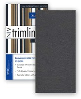 NIV Trimline Bible, Bonded leather, Black  - Slightly Imperfect