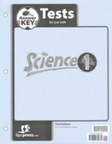 BJU Science Grade 1 Testpack Answer Key, Third Edition