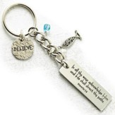 Believe Keyring with Charms