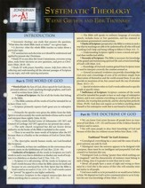 Systematic Theology--Laminated Study Sheet