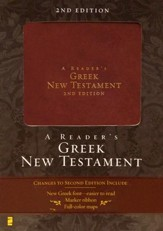 A Reader's Greek New Testament, 2nd edition - Italian Duo-Tone, Burgundy