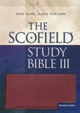 NKJV Scofield Study Bible, Reader's Edition, Bonded leather, Burgundy--Indexed