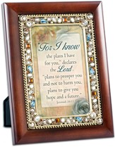 For I Know the Plans I Have For You, Jeweled Framed Verse