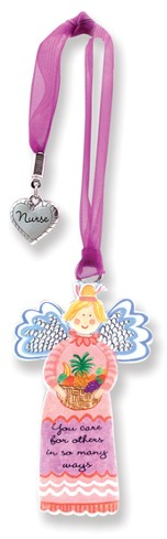 Care for Others, Keepsake Angel with Charm, Purple