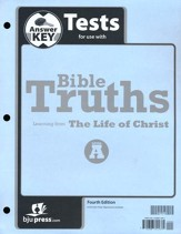 BJU Bible Truths Level A (Grade 7) Test Pack Answer Key   (Fourth Edition)
