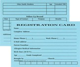 Registration Cards, pack of 50