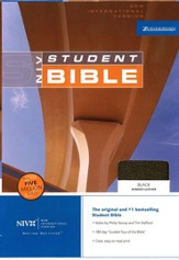NIV Student Bible, Revised - Black Bonded Leather - Slightly Imperfect