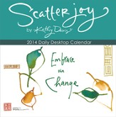 2014 Scatter Joy by Kathy Davis Daily Desk Calendar