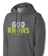 God Knows Hooded Sweatshirt, Gray, Small