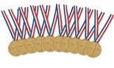 Jeff Slaughter VBS Fun Run 2015: Gold Medal with Ribbon (Pack of 10)