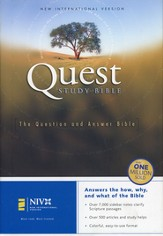 NIV Quest Study Bible Revised Hardcover --Damaged