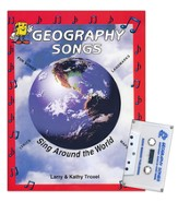 Audio Memory Geography Songs Cassette Tape, Workbook & Poster Kit