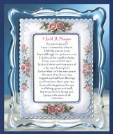 I Said A Prayer For You Musical Framed Sentiment