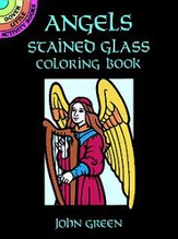 Angels Stained Glass Coloring Book