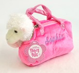 Personalized Lamb In Purse, Pink