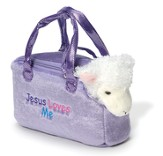 Personalized Lamb In Purse, Purple