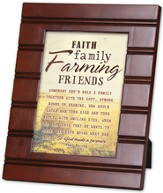 Faith, Family, Farming Friends Framed Art, Small