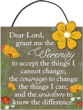 Serenity Prayer, Mini Plaque
