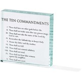 Ten Commandments Glass Block