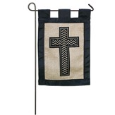 Burlap Cross Flag, Small