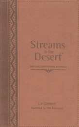 Streams In The Desert®: 366 Daily Devotional Readings, Italian Duo-Tone Walnut