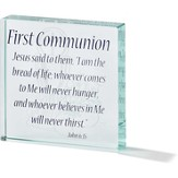 First Communion Tabletop Glass Block