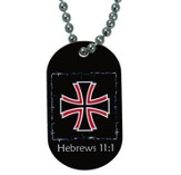 Cross, Now Faith Is the Substance Dogtag Pendant