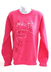 Beautiful, Isaiah 52:7, Sweatshirt, Pink, Extra Large