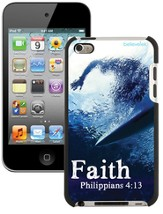 Faith Surfer, Philippians 4:13 iPod 4G Case