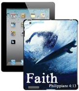 Faith Surfer, Philippians 4:13 iPad Case