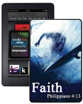 Faith Surfer, Philippians 4:13 Kindle Fire Case