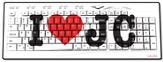 I Heart JC USB Wireless Keyboard, White