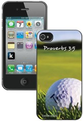 Golf, Proverbs 3:5 iPhone 4 Case