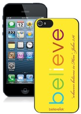 Believe iPhone 5 Case, Yellow
