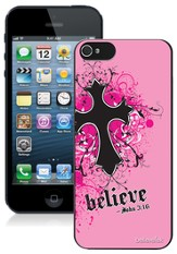 Cross iPhone 5 Case, Pink