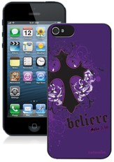 Cross iPhone 5 Case, Purple