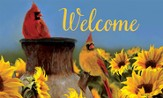 Cardinal Sunflowers, Welcome Mat