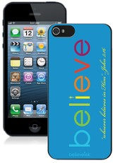 Believe iPhone 5 Case, Blue