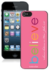 Believe iPhone 5 Case, Pink