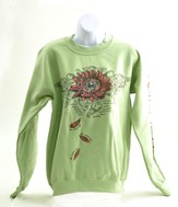 He Loves Me Sweatshirt, Green, Medium - Slightly Imperfect
