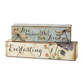 Love Scripture Blocks, Set of 2