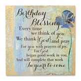 Birthday Blessing Plaque