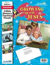 Growing Up with Jesus Beginner (ages 4 & 5) Bible  Memory Verse Visuals