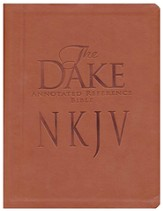 NKJV Dake Annotated Reference Bible imitaiton leather, brown