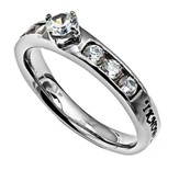 I Know Princess Solitaire Women's Ring, Size 5 (Jeremiah 29:11)
