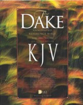 KJV Dake Annotated Reference Bible--soft leather-look, black